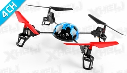 WL Toys RC Beetle V929 Quadcopter 4 Channel 2.4Ghz (Blue)