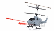 New UDI U809 Cobra Missile Launching 3CH Micro RC Helicopter w/ Gyro RTF (Gray)