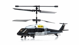 JXD 3 Channel Black Hawk Micro RC Helicopter w/Gyro (Black)