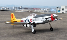 NitroModels P-51 Mustang 60 Nitro Gas Radio Controlled War Plane Kit w/ Retracts