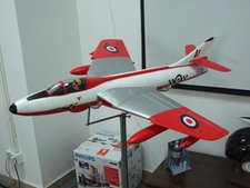 RCLander British Hawker Hunter 70mm RC Electric Ducted Fan EDF Jet w/ Retractable Landing Gear