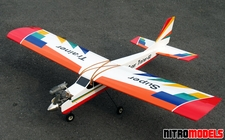 "NitroModels RC Airplane Sports Trainer .46- .60 - 65"" - Scale Nitro Gas Radio Remote Control Airplane"
