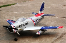 "New T-Model F-86 Sabre-140 Radio Controlled Aircraft w/ 60"" Wingspan (SABREJET)"