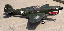 Giant Scale NitroModels P-40E 140 ARF Nitro Gas Radio Remote Control RC Warbird Airplane