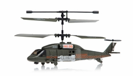 JXD 3 Channel Green Hawk Micro RC Helicopter w/Gyro (Black)