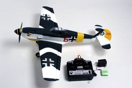 New 4 CH German Messerschmitt ME-109 Radio Remote Control Electric RC Warbird Airplane RTF
