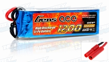 Gens Ace LIPO  Battery 1200mah  22.2V 40c