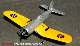 "Airfield Extreme Detail 4-Channel Remote F4U Corsair 800mm (31.5"") Remote Control Airplane ARF Receiver-Ready Yellow"
