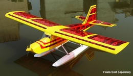 "Super Senior 60 - 80"" Nitro RC Plane Kit (Transparent Red Aircraft)"