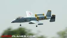 Dynam 4-CH A-10 Thunderbolt II Twin 64mm Brushless EDF Remote Control RC Jet 2.4G RTF (Army Grey)
