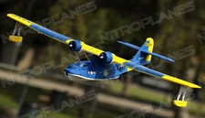 Dynam 4-CH PBY Catalina 1470MM Brushless Remote Control Seaplane 2.4G RTF (Blue)