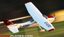 "2.4Ghz 4 Channel AirField RC 55"" Sky Trainer Upgrade Version Airplane w/ Brushless Motor/ESC/Lipo/LED Lights 100% RTF *Super Scale/Detail* EPO Foam Plane (Red)"