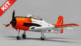 Airfield RC T28 Trojan 4 Channel Airplane Kit 800mm Wing Span (Red)