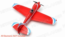 "AeroSky 5 Channel Midget Mustang 55"" Scale Remote Control Plane Kit (Red)"