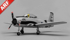 Airfield RC T28 Trojan 4 Channel Airplane Almost Ready to Fly ARF 800mm Wing Span (Grey)