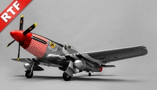 Airfield RC Plane  6 Channel P51 Mustang Warbird 1100mm Wingspan Ready to Fly 2.4ghz (Red)