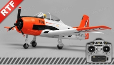 Airfield RC T28 Trojan Airplane w/ 2.4ghz 4 Channel Ready to Fly 2.4Ghz  800mm Wing Span (Red)