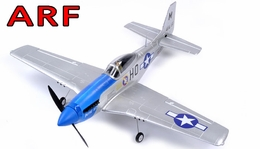 "AirField 800mm (31.5"") Electric P51 Mustang RC Warbird Plane w/ Brushless+ESC ARF Receiver-Ready (Blue)"