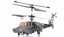 9006 3-Channel Black Air Shark RTF Ready to Fly KA-50 RC Helicopter w/ Built in Gyro