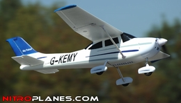 "Airfield 4Ch 55"" Sky Trainer RC Airplane ARF Almost Ready to Fly w/ Brushless Motor/ & ESC (Blue)"
