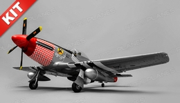 Airfield RC Plane  6 Channel P51 Mustang Warbird 1100mm Wingspan Kit (Red)