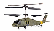 Syma S102G 3-Channel RC Indoor Mini Co-Axial Infared UH-60 Black Hawk RC Helicopter w/ Built in Gyro (Green)