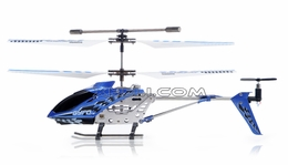 The Gyro Star S107 3 Channel Mini Indoor Co-Axial Metal RC Helicopter w/ Built in Gyroscope (Blue)