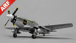Airfield RC Plane  6 Channel P51 Mustang Warbird 1100mm Wingspan Almost Ready to Fly (Green)