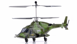 Exceed RC 2.4Ghz WarHawk 300 4-Channel Radio Remote Control RC Helicopter RTF Co-Axial AirWolf- 100% Ready-to-Fly w/ Lipo Battery (Camo Green)