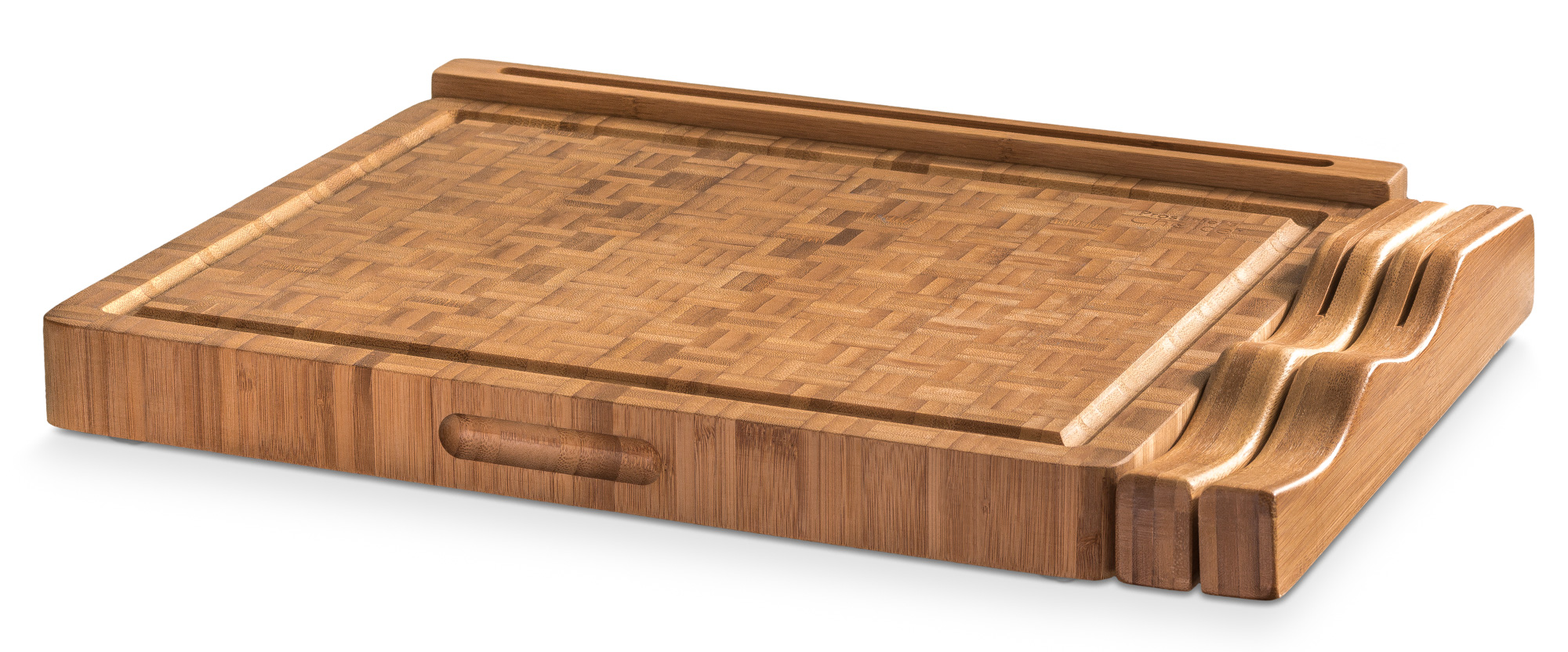 end grain bamboo cutting board workstation with juice trap, Kitchen design