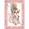 Charm ~ pendant ~ Glass jewelry charms ~ pendants ~ PINK KITTY CAT W/F
