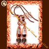 SPARKLING COPPER DISCO handcrafted jewelry earrings SHIPS FREE!