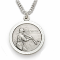 Boys Sports Nickel Silver Medals with St. Christopher on Back
