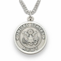 Women's's Nickel Silver Army Medal, St. Michael on Back