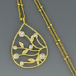 Tree Of Life Gold Pendant with Swarovski Crystals