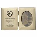 """8"""" x 5"""" x 1/2"""" Gold Plated Metal Photo Frame"""