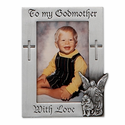 Fine Pewter Godmother Photo Frame