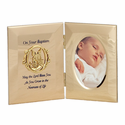 "8"" x  5"" Metal Baptism Photo Frame With Guardian Angel"
