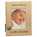 "6"" x 8"" Baptism Blessing Metal  Photo Frame"