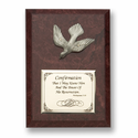 """5"""" x 7"""" Wood Plaque with Fine Pewter Confirmation Dove"""