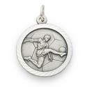 Boy's Sports Sterling Silver Medals with Cross on Back