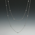 "48"" Silver Plated Diamond-Like Cubic Zirconia Necklace Chain"