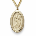 14K Gold Over Sterling Silver St. Christopher Medals