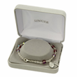 6mm Crystal Beads Wrap Bracelet with Silver Plated Miraculous and Crucifix Charms