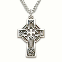 """Sterling Silver Celtic Cross Necklace on 18"""" Chain"""