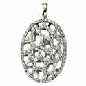 Sterling Silver Web Necklace with Crystal Cubic Zirconia Stones