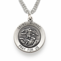 Sterling Silver St. Michael Medals