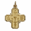 14K Gold Communion/Four Way Medals