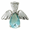Birthstone Angel Wing Pins