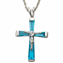 Birthstone Crucifix Necklaces